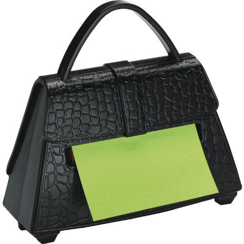 Postit Notes, Popup Purse Dispenser, 3 x 3 Inches , Black (PD654US)