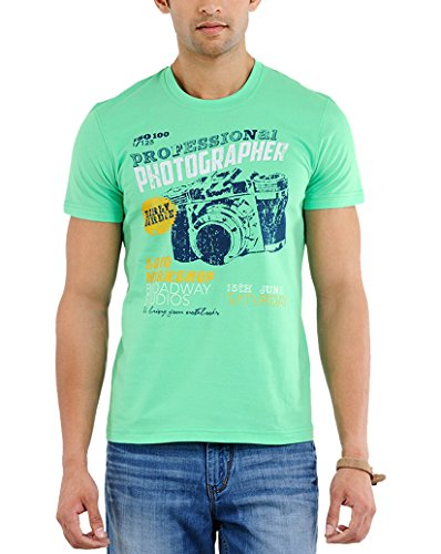 Yepme Men's Graphic Cotton T-shirt - B00O32WAOU