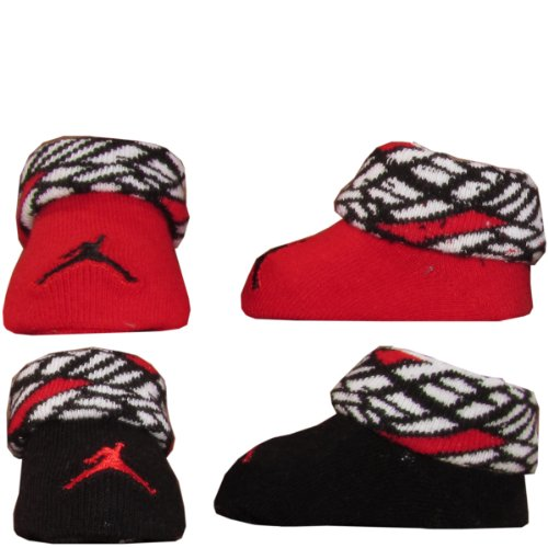 Nike Jordan Baby Booties Newborn Infant Socks Size 0-6 M Great Baby Gift Set Red White Black