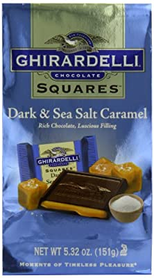 Ghirardelli Dark and Caramel Sea Salt, Chocolate Squares, 5.32 oz., 4 Count from Ghirardelli