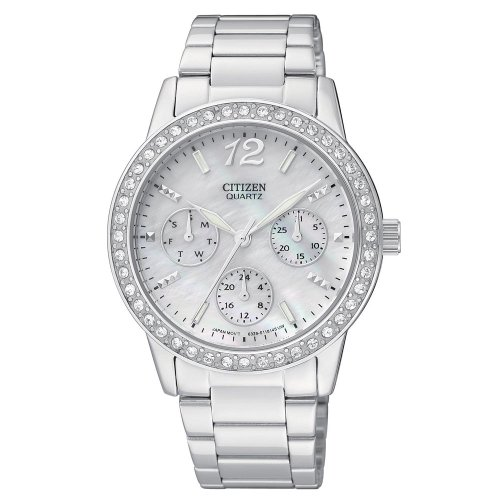 Citizen Quartz Ladies' Oversized 35Mm Swarovski Crystal Watch - Ed8090-53D