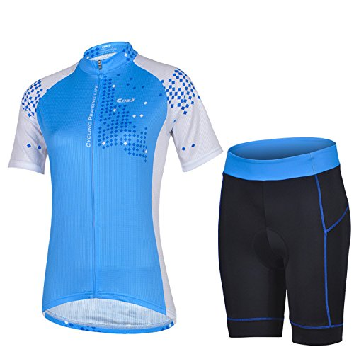 Women's Quick-Dry Short Sleeve Cycling Jersey 3D Padded Short Set Devil Style