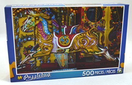 Puzzlebug 500 Piece Puzzle ~ Carousel Horse - 1