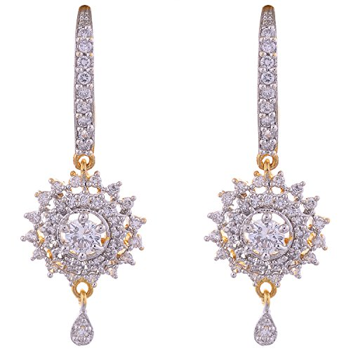 Aditri Aditri Gold-Plated Dangle & Drop Earings For Women - White (Yellow)