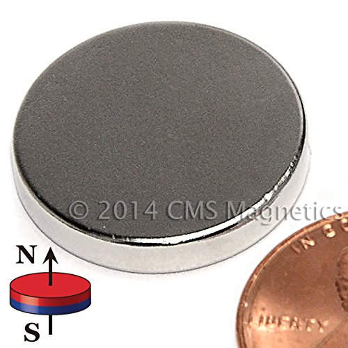 "Cms Magnetics® N52 Neodymium Magnet Dia 3/4"" X 1/8"" Ndfeb Rare Earth Disc Magnet 6-Count front-392054"