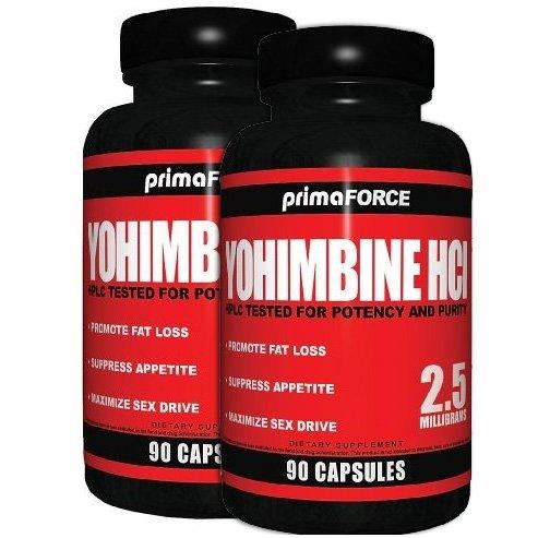 Pack 2: La yohimbine HCl 2,6 milligrammes par