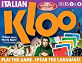 KLOO's Learn to Speak Italian Language Card Games Pack 2 (Decks 3 & 4)
