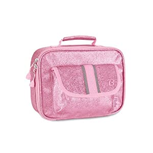 Bixbee Little Girls'  Sparkalicious Lunchbox, Pink, One Size (Discontinued by Manufacturer)
