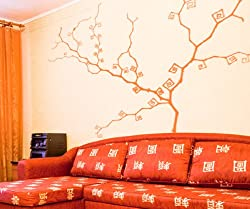 Vinyl Wall Decal Sticker Abstract Swirl Tree MMartin141m