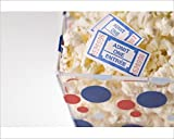 Photographic Print of Popcorn bowl with movie tickets