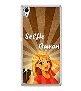 Selfie Queen 2D Hard Polycarbonate Designer Back Case Cover for Sony Xperia Z3+ :: Sony Xperia Z3 Plus :: Sony Xperia Z3+ dual :: Sony Xperia Z3 Plus E6533 E6553 :: Sony Xperia Z4
