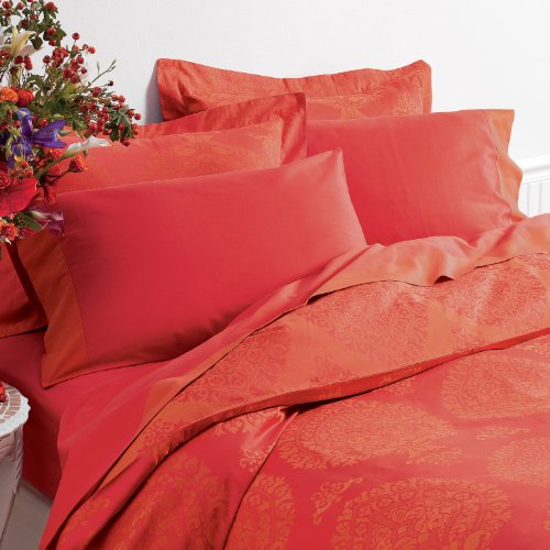 Coral Duvet Cover Queen front-1037338