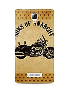 AMEZ Sons of Anarchy Motorcycle Back Cover For Lenovo A2010