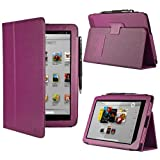 HHI UrbanFlip Series Viewing Stand Case for Barnes & Noble Nook HD+ 9 Inch - Purple (Built-in magnet for sleep and wake feature) (Package include a HandHelditems Sketch Stylus Pen)
