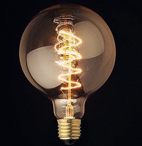 XL Spiral Globe Vintage Light Bulb Filament Edison Style E26 Screw 40W 0