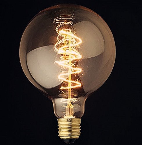 XL Spiral Globe Vintage Light Bulb Filament Edison Style E26 Screw 40W 0