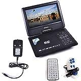 """Brand New 9.8"""" Portable DVD Player DivX Swivel USB BLACK UK"""