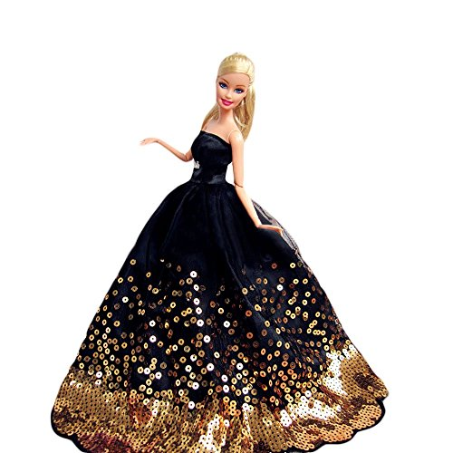 "Creation® nero Temptation Fantasia fatto a mano Vestito da sposa per 11.5 ""barbie Doll- Nero"