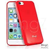 TheBlingZ.® New TPU Gel Jelly Rubber Silisone Slim Skin Phone Case Cover For iPhone 5C - Red