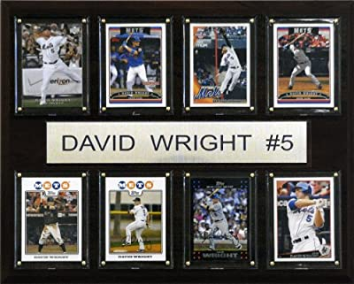 MLB David Wright New York Mets 8 Card Plaque