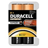 Duracell Coppertop Duralock D Batteries 8 Count
