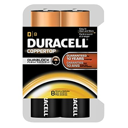 8-Pack Duracell Coppertop Duralock Batteries: C Cells $8.43