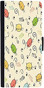 Snoogg Meow Art Cute Designer Protective Phone Flip Case Cover For Zenfone Max
