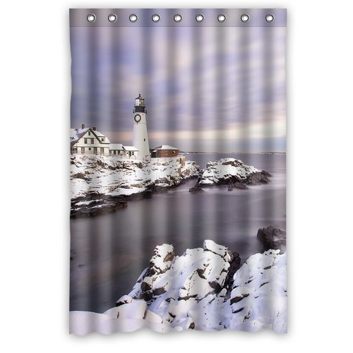 2015 New Lighthouse Shower Curtain 48