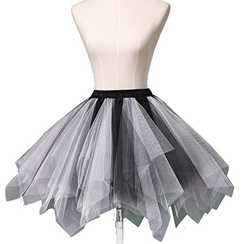 Wedtrend Women's 50s Vintage Petticoat Party Accessory Tutu (25 Colors) WTC10002Black-WhiteS-M (Petticoat Junction Season 4 compare prices)