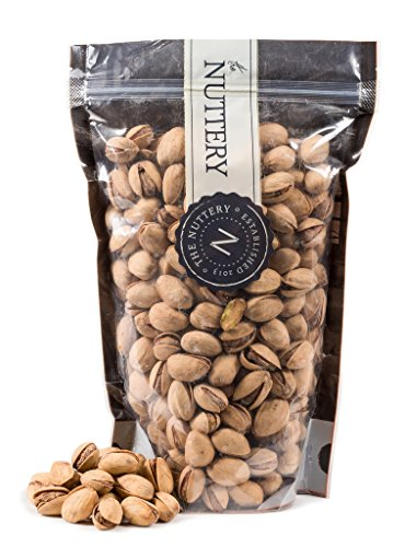 The Nuttery Roasted and Unsalted Pistachios - 16 ounce Pouch bags (1lb) (Roasted Unsalted Pistachios compare prices)