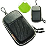 New first2savvv heavy duty black camera case for Nikon COOLPIX S9600 with LENS Cleaning Cloth