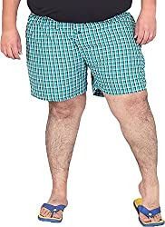 Xmex Men's Cotton Shorts (BXR-BLUE, Blue, XXXX-Large)