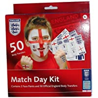 Match Day Kit - England Football Face Paints + Transfers