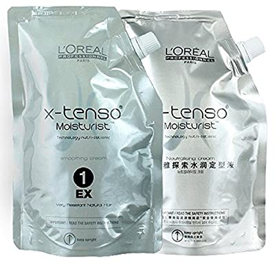 L'OREAL X-TENSO HAIR STRAIGHTENER CREAM For Very Resistant Natural Hair 400ml LARGE SET