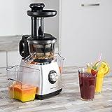Ultratec-Cuisine-SJ400-Slowjuicer-extracteur-de-jus--vitesse-lente-avec-systme--vis-sans-fin-400-W-collecteur-de-jus-de-800-ml-et-collecteur-de-pulpe-800-ml