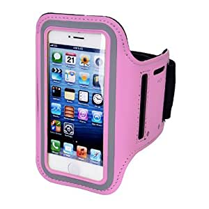 Sunwire® iPhone 5 / 5C Premium Neoprene Sports Armband Protective, Shock & Sweat Resistant Case / Cover (PINK)
