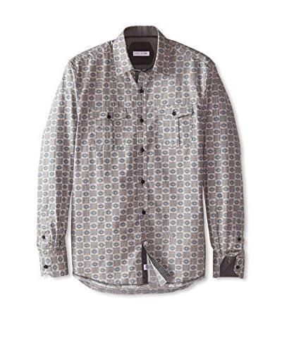 John Lennon Men's Pattern Sportshirt