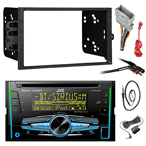 jvc kw r920bts din bluetooth car stereo receiver cd player bundle combo with metra