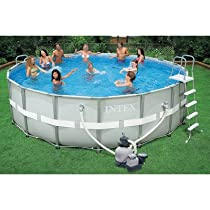 Hot Sale Intex Ultra Frame Pool Set, 18-Feet by 52-Inch, Gray