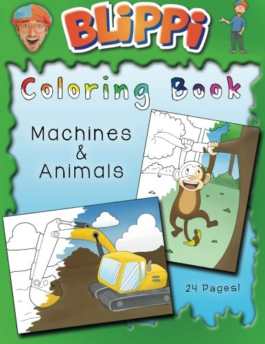 Blippi Coloring Book Animals Machines Download PDF By