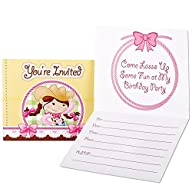 Pink Cowgirl Invitations (8)