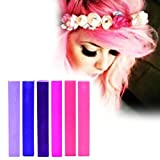 Best Pink Purple Ombre Hair Dye Set | Violet Purple And Lilac Hair Dye |Blossom Lilac Temporary Hair Color | With Shades Of Lilac, Purple, Indigo, Hot Pink, Baby Pink & Orchid A Pack Of 6 Temporary Hair Dye | Color Your Hair Pink Purple Ombre In Seconds With Temporary Hair Chalk