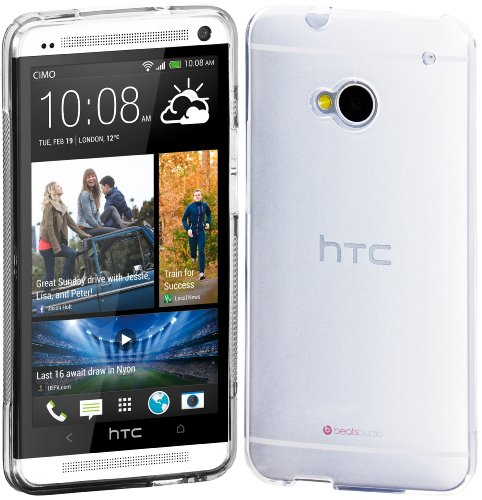 Cimo Grip Back Case Flexible TPU Cover for HTC One (M7) - Frosted Clear