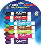 Expo Low Odor Chisel Tip Dry Erase Markers, 12 Colored Markers(80699)