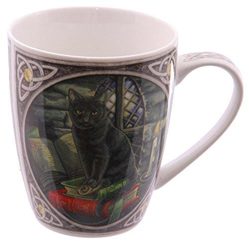 Puckator MULP12 Lisa Parker - Tazza, motivo gatto nero, in porcellana 8,5 x 12 x 10 cm