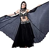 Stage Party Black Belly Dance Isis big Wings special Halloween Gift