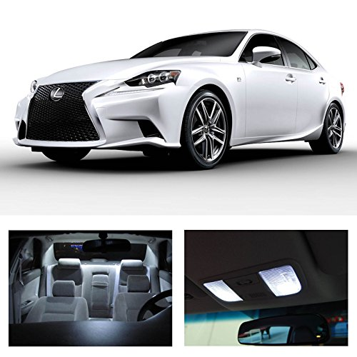 Lexus Is250 Is350 Isf 2014 Xenon White Premium Led Interior Lights Package Kit (11 Pieces)