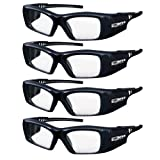 True Depth 3D® Firestorm XL Premium Quality DLP-LINK Rechargeable 3D Glasses with SteadySync (TM) Technology (4 Pairs)