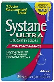 Systane Ultra Lubricant Eye Drops High Performance  Preservative-Free Vials 0.4mL 24-count