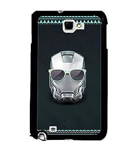 Fuson 2D Printed Skull Designer back case cover for Samsung Galaxy Note 2 - D4175
